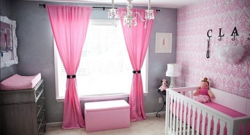 bright colored modern nursery room design ideas