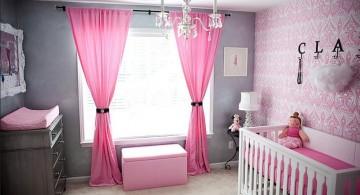 bright colored modern nursery room design ideas
