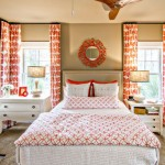 bright orange teenage girl curtain designs