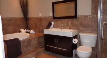 brown bathroom ideas for small spaces