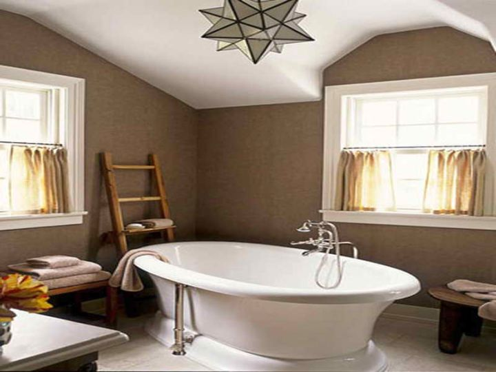 Brown Bathroom Ideas With Standalone Tub