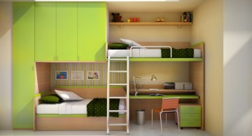 built in cool bunk bed designs