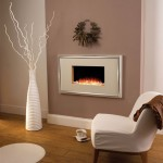 built in modern white fireplace design for small space