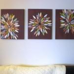 burst of colors diy bedroom art