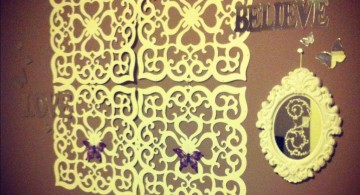 butterfly diy bedroom art