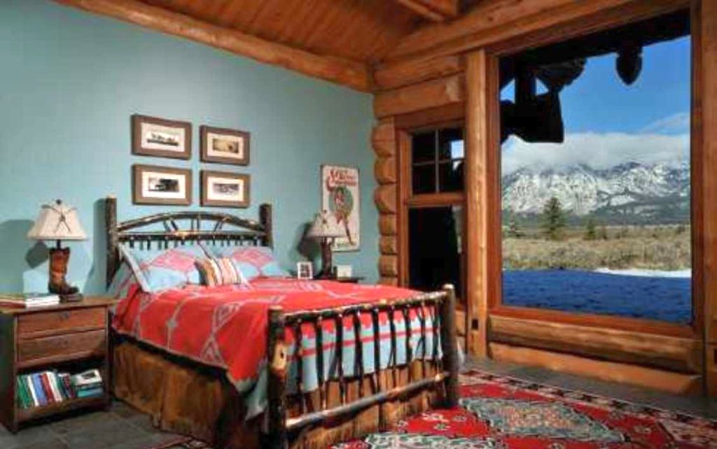 20 simple and neat cabin bedroom decorating ideas for Cabin bedroom designs