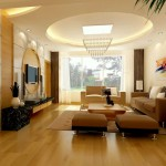 ceiling design ideas for living room with futuristic chandelier