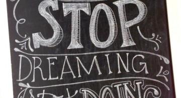 chalkboard writing ideas