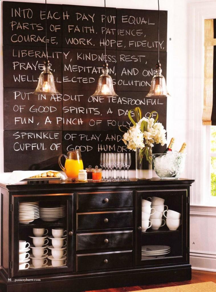 20 creative chalkboard writing ideas for Chalkboard kitchen ideas