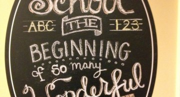 chalkboard writing ideas for school