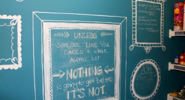 chalkboard writing ideas with blue chalkboard