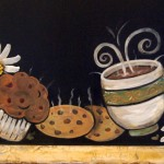 chalkboard writing ideas with pictures of coffee and cookies