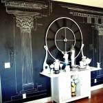 chalkboard writing ideas with roman columns