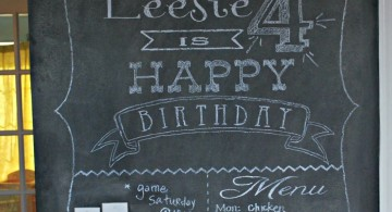 chalkboard writing ideas with simple fonts