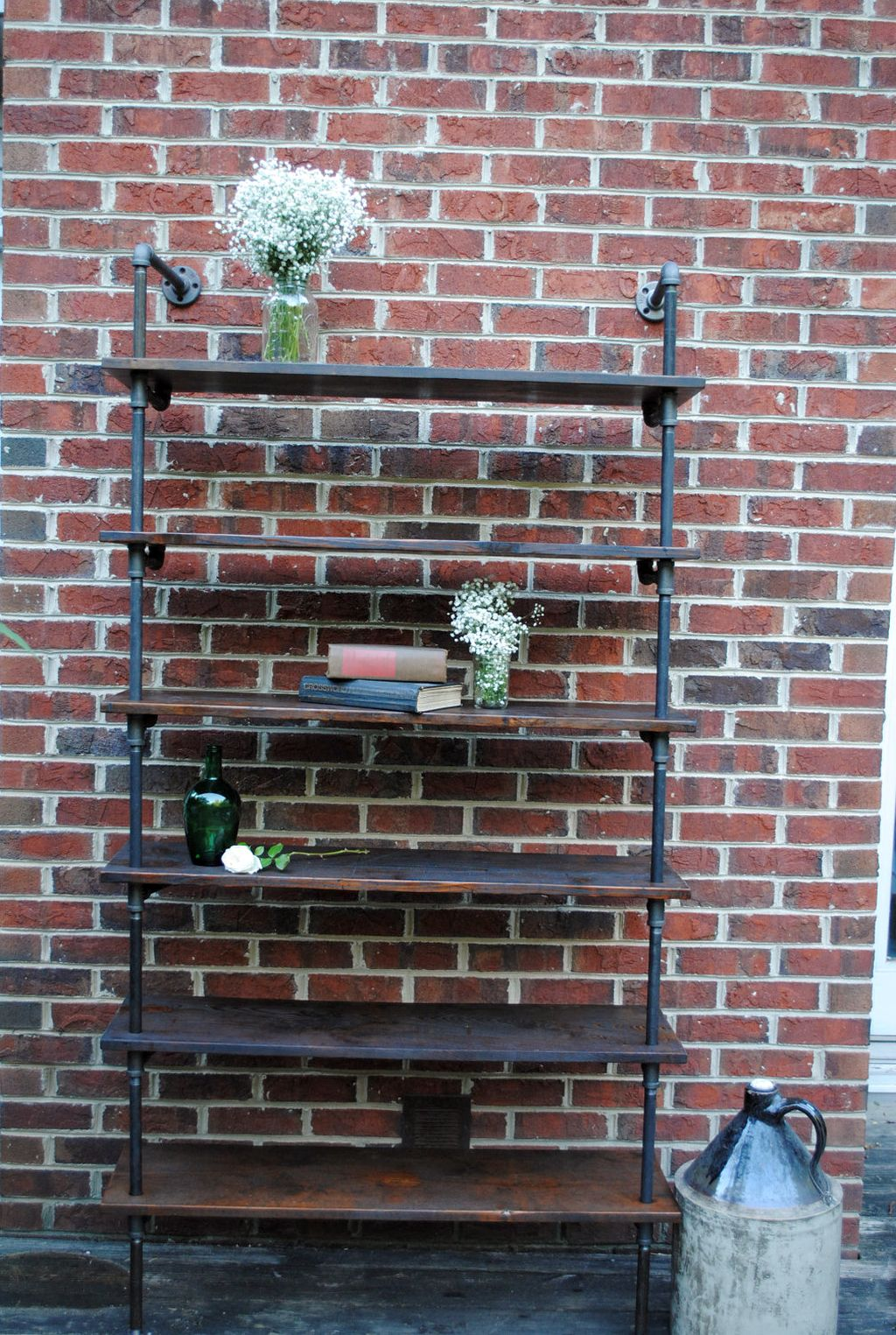 Vintage Metal And Wooden Industrial Bookcase Designs