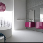 chic in pink cool modern bathrooms