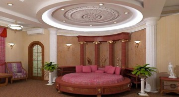circular tray ceiling bedroom