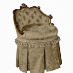 classic and regal vanity chair with skirt