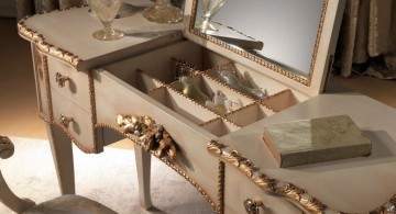 classic make up storage cabinet ideas with flip top mirror