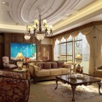 classic oval shaped ceiling design ideas for living room