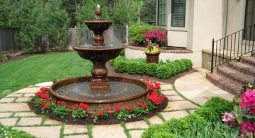 classic shaped landscape fountain design ideas