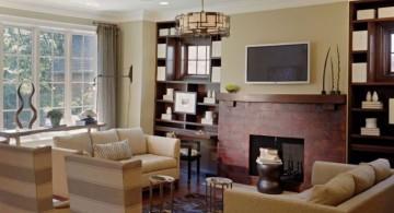 classy and retro long living room ideas