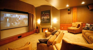 classy basement entertainment room