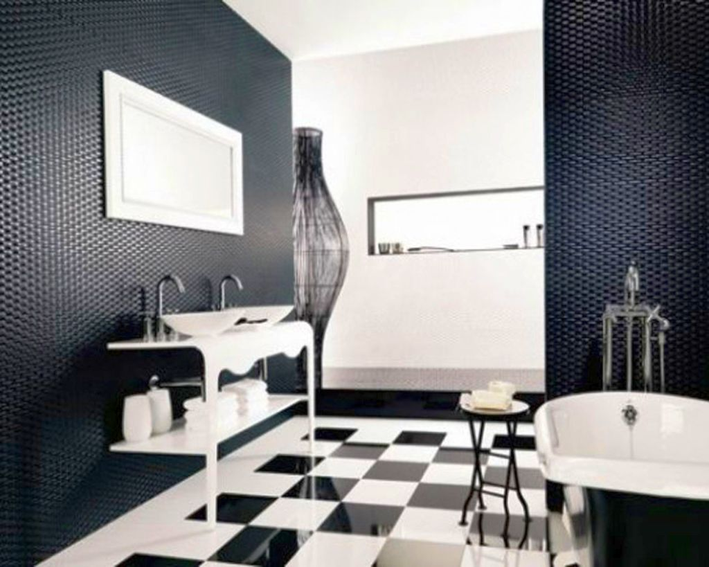 20 Bewitching Modern Black Bathrooms Ideas