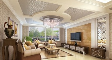 classy ceiling design ideas for living room