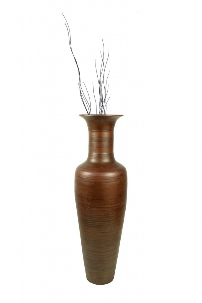 classy floor vase with branches