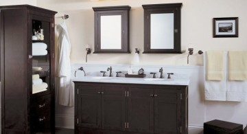 classy in black and white Bathroom vanity lighting ideas