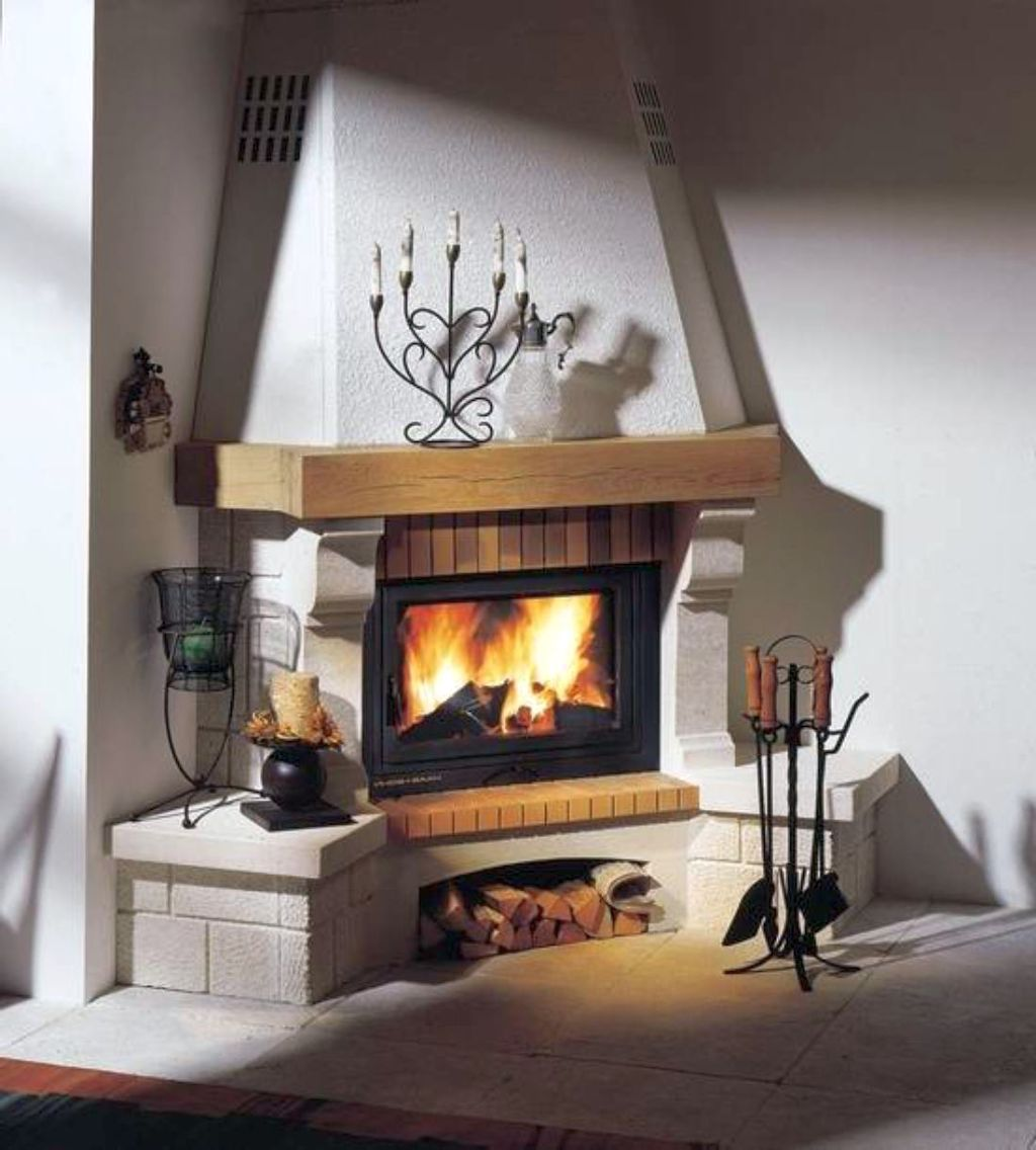 Classy scandinavian fireplace design ideas for Scandinavian design ideas
