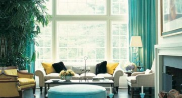 classy small turquoise living room