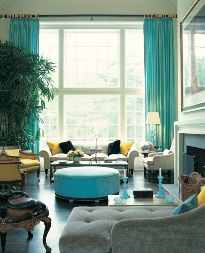 17 breathtaking turquoise living room ideas for Turquoise color scheme living room