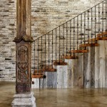 classy wooden staircase designs with steel railings