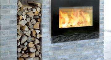 close up on scandinavian fireplace design ideas