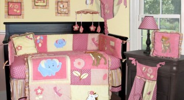 colorful and cute baby girl bedding ideas