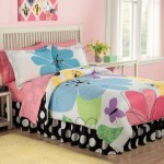 colorful linens for cute girls bedroom ideas