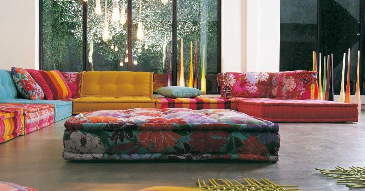 colorful wide modular sofas