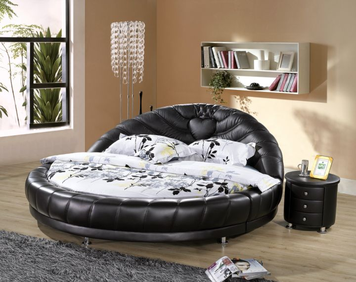 comfy leather circular bed