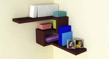 contemporary 4D corner shelf designs