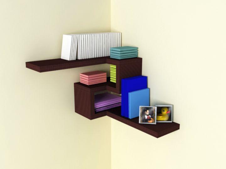 Contemporary 4d corner shelf designs - Contemporary corner shelves ...