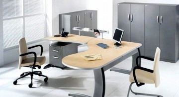 contemporary L shaped desk minimalist office furniture