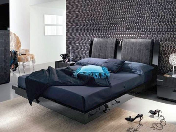contemporary and simple curved bed designs