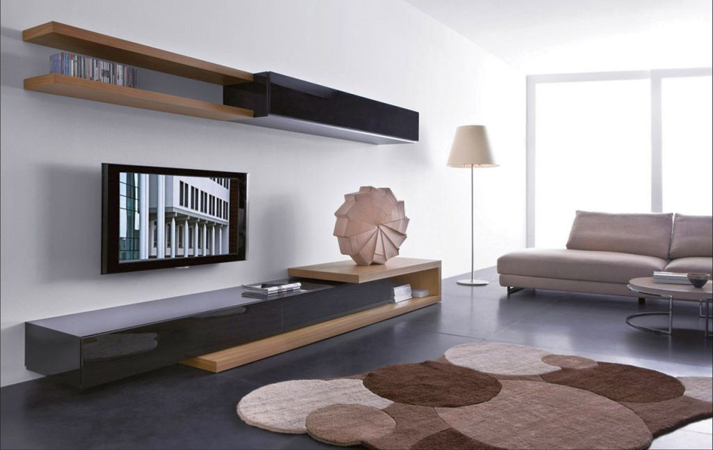19 great designs of wall shelving unit for living room for Modern living room shelving units