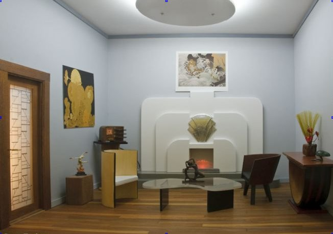 contemporary art deco living rooms for small spaces