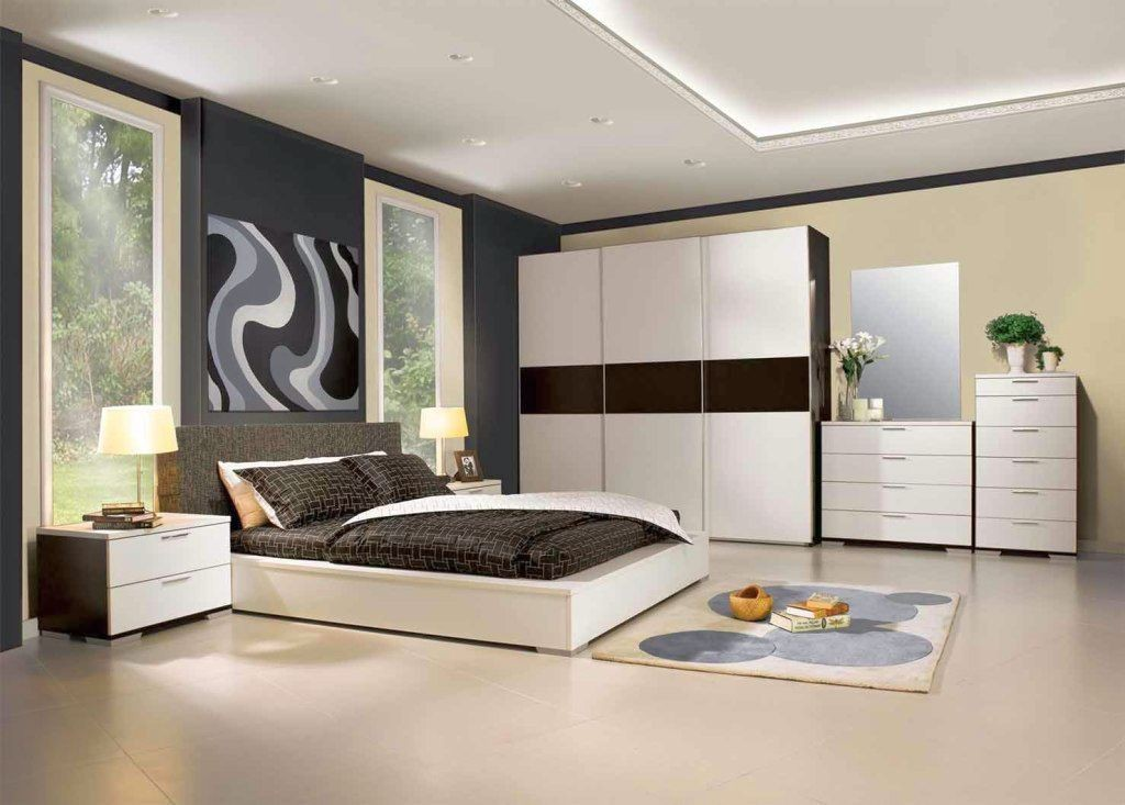 contemporary bedding ideas in Japanese inspired room