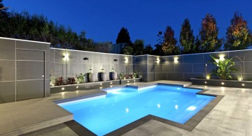 contemporary best backyard swimming pool designs in glamorous light