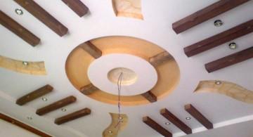 contemporary circular drop ceiling decorating ideas