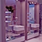 contemporary double sinks design tiny bathroom design ideas